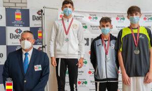 Mateu Ruesca se cuelga el bronce en la Liga Nacional de Kárate