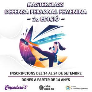 Nuevo éxito de convocatoria en la 2ª. Edición de la MasterClass de Defensa Personal Femenina
